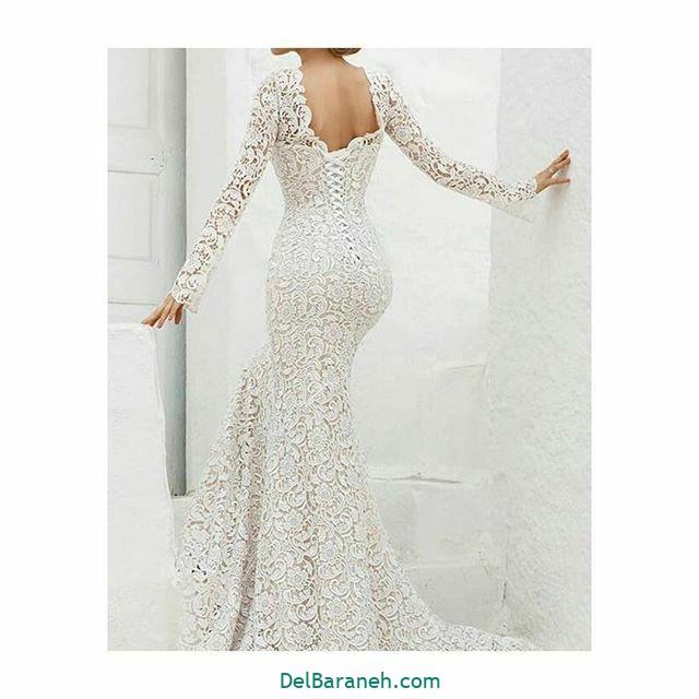 لباس عروس آستین دار (۲۱)