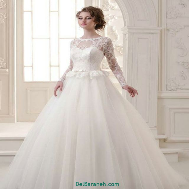 لباس عروس آستین دار (۲۲)