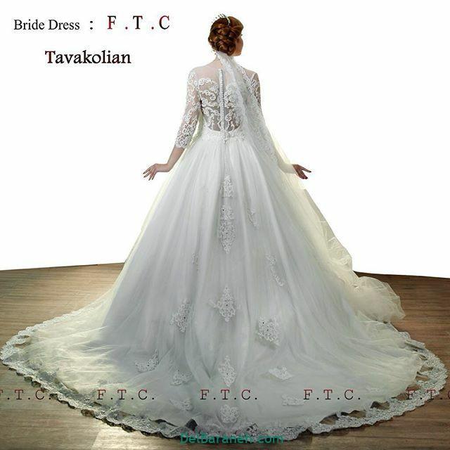 لباس عروس آستین دار (۲۳)
