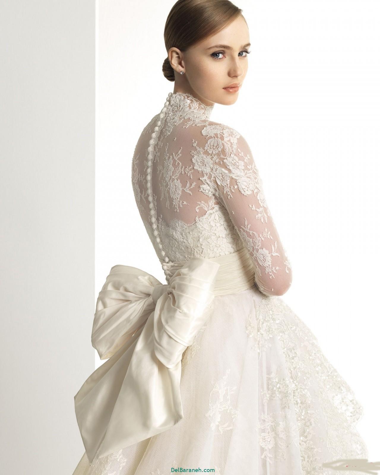 لباس عروس آستین دار (۲۴)