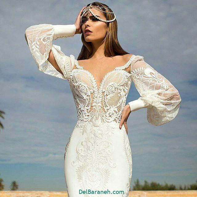 لباس عروس آستین دار (۲۵)