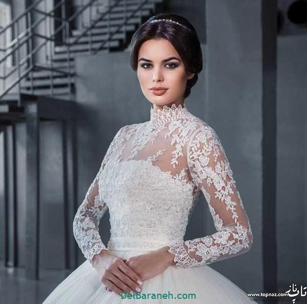 لباس عروس آستین دار (۲۶)