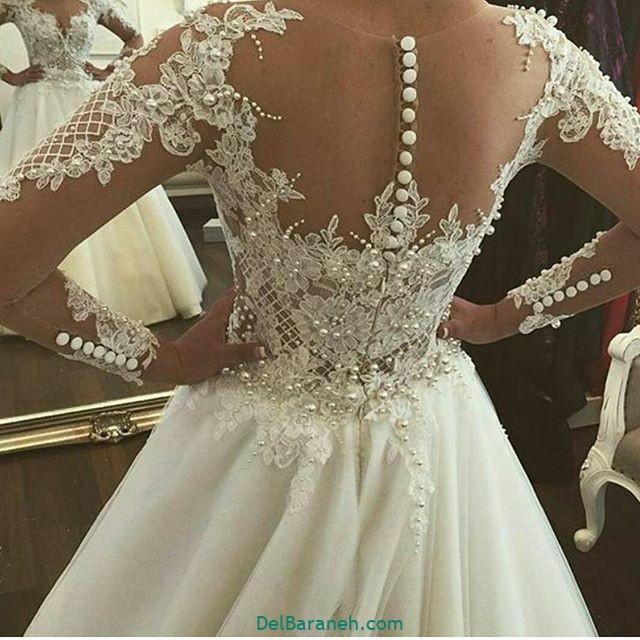 لباس عروس آستین دار (۲۷)