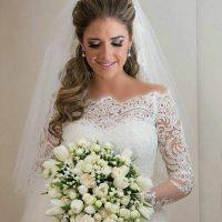 لباس عروس آستین دار | ۴۰ مدل لباس عروس زیبا با آستین بلند