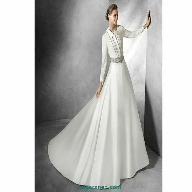 لباس عروس آستین دار (۳)
