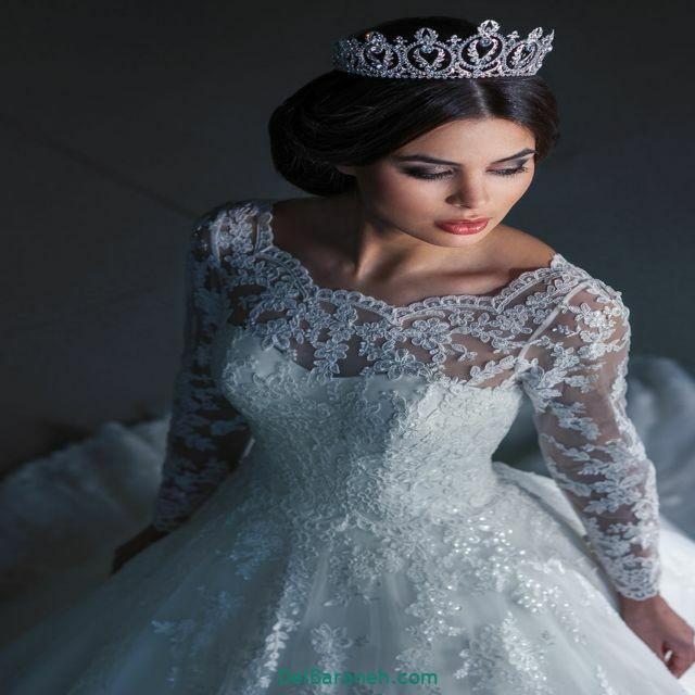 لباس عروس آستین دار (۳۱)