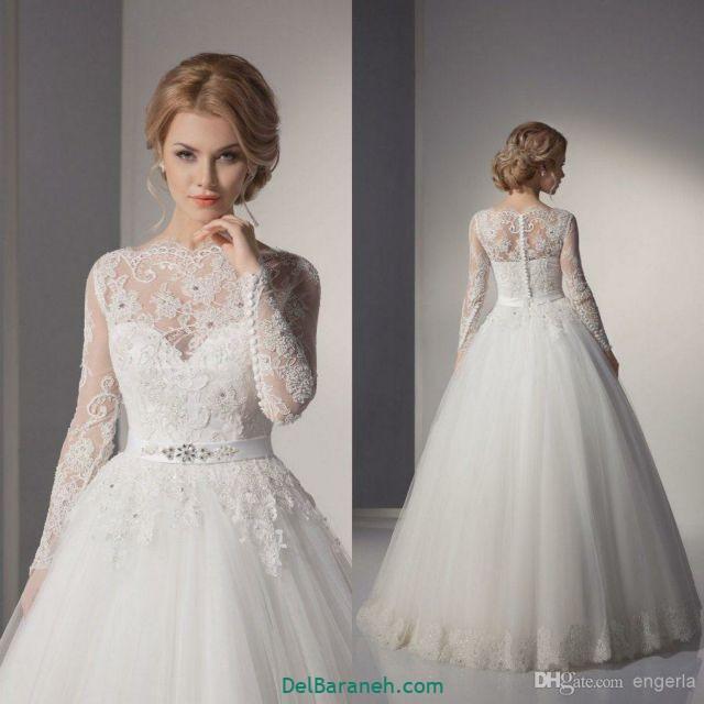 لباس عروس آستین دار (۳۴)