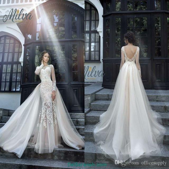 لباس عروس آستین دار (۳۵)