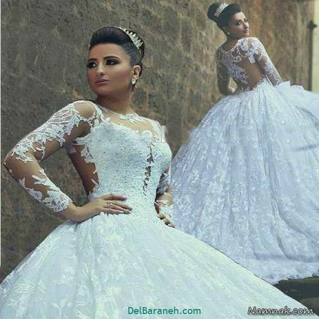 لباس عروس آستین دار (۳۶)
