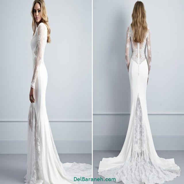 لباس عروس آستین دار (۳۷)