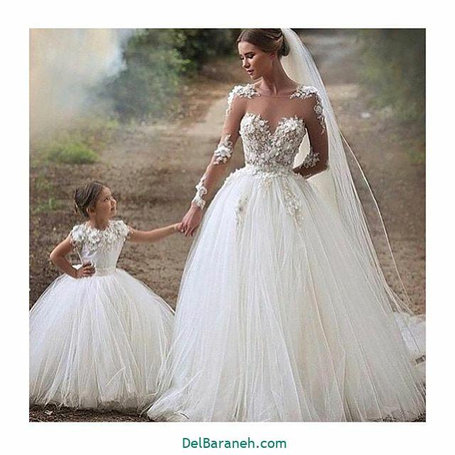 لباس عروس آستین دار (۳۸)