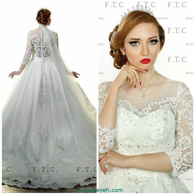 لباس عروس آستین دار (۳۹)