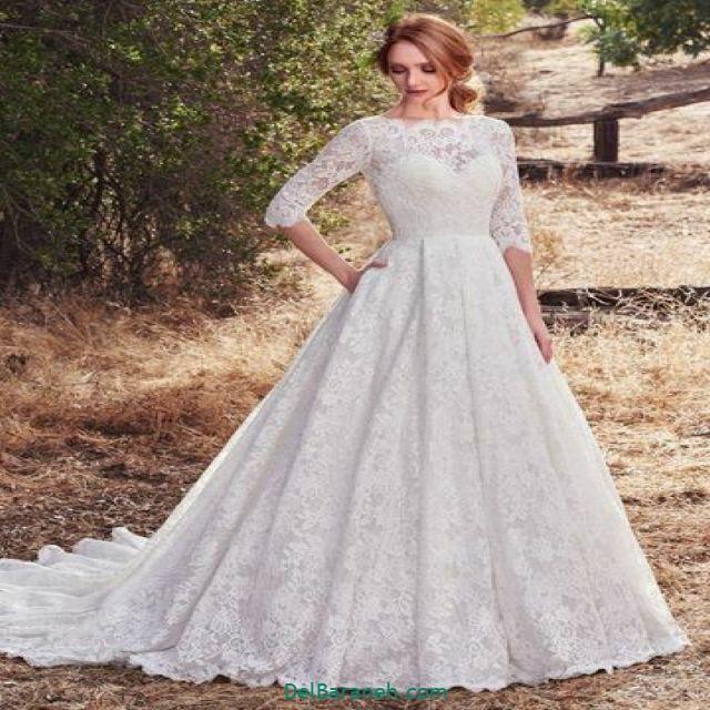 لباس عروس آستین دار (۴)