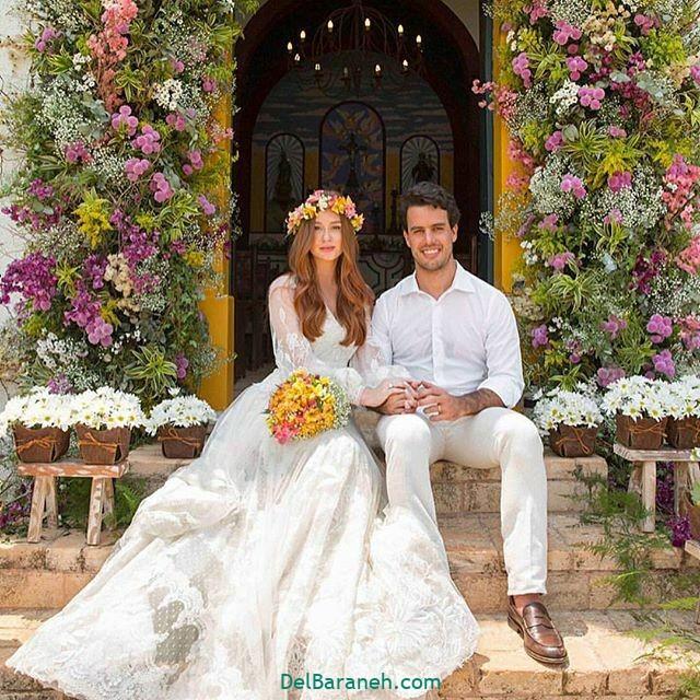 لباس عروس آستین دار (۴۰)