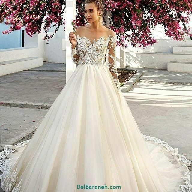لباس عروس آستین دار (۶)