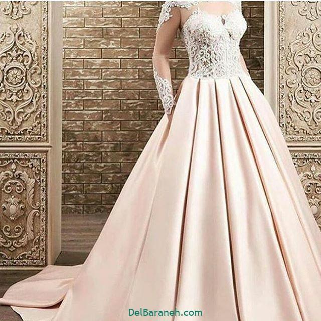 لباس عروس آستین دار (۷)