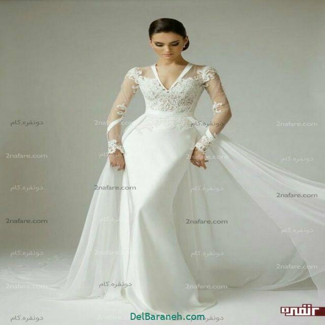 لباس عروس آستین دار (۹)