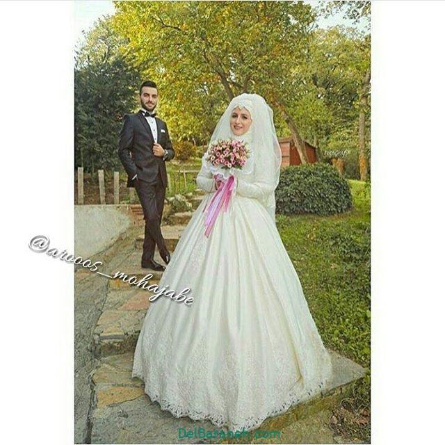 لباس عروس محجبه (۱۴)