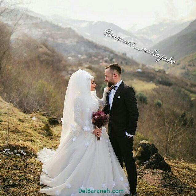 لباس عروس محجبه (۱۶)