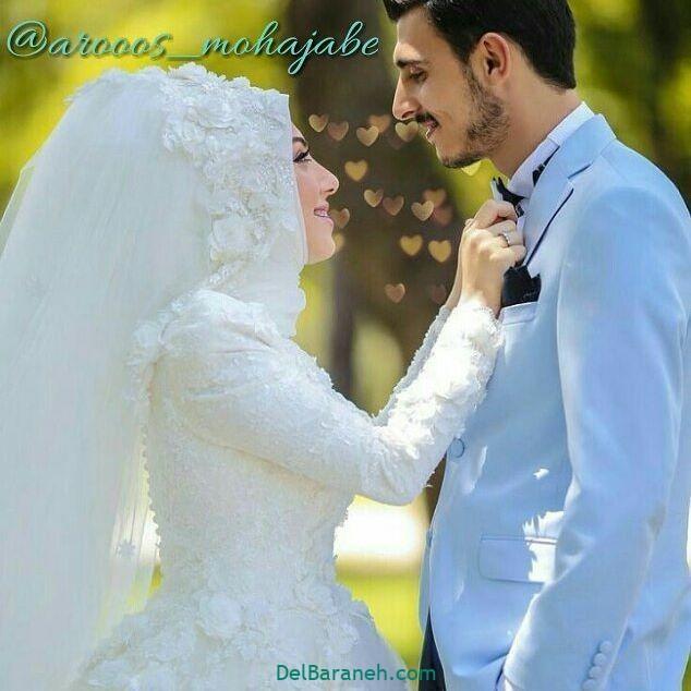 لباس عروس محجبه (۱۷)