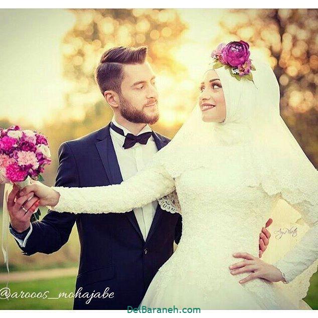 لباس عروس محجبه (۲۳)
