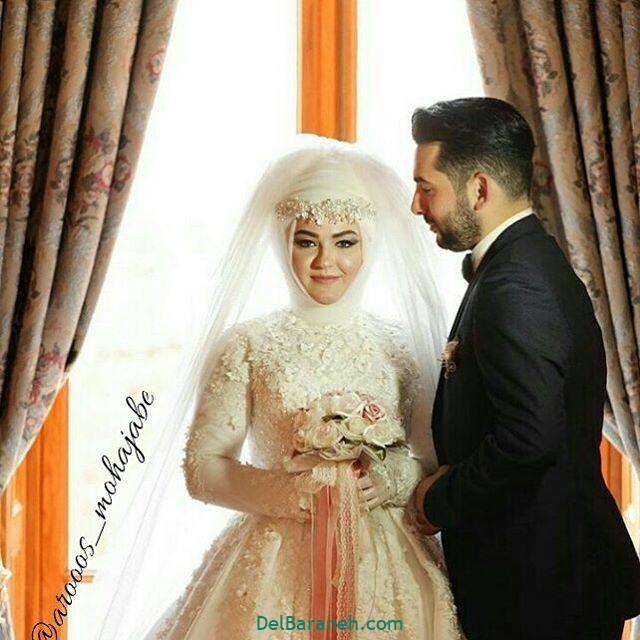 لباس عروس محجبه (۲۵)