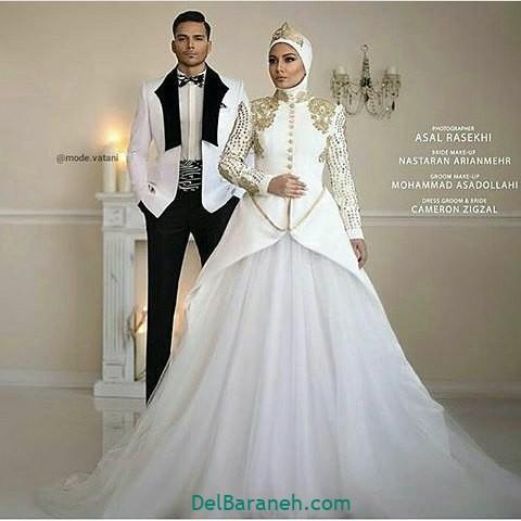لباس عروس محجبه (۳۲)