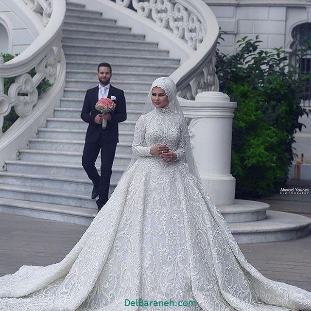 لباس عروس محجبه (۳۵)