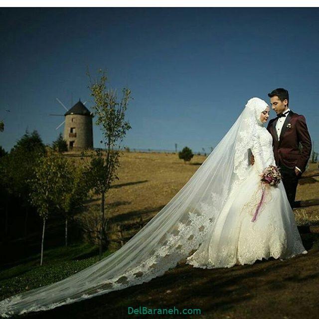 لباس عروس محجبه (۳۶)