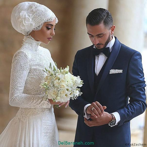لباس عروس محجبه (۳۹)