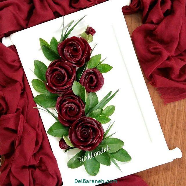 تزیین لبو شب یلدا عروس (۱)