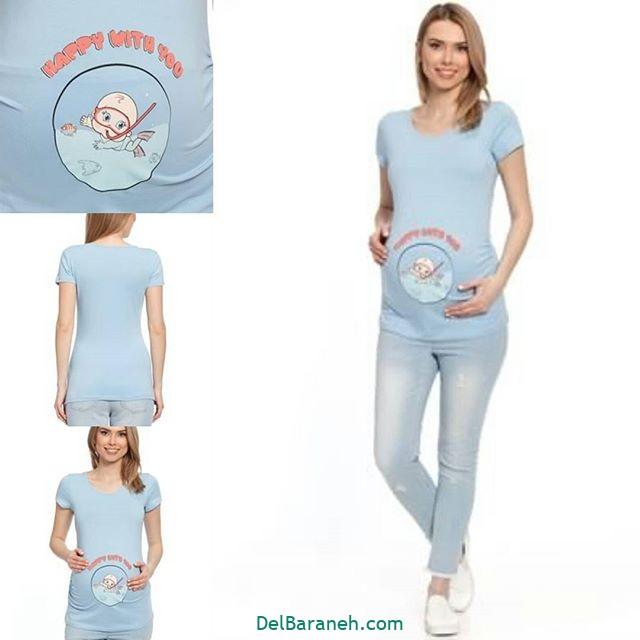 تیشرت بارداری فانتزی (۱۳)