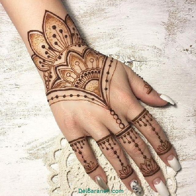 طرح حنا روی مچ دست (۱۰)