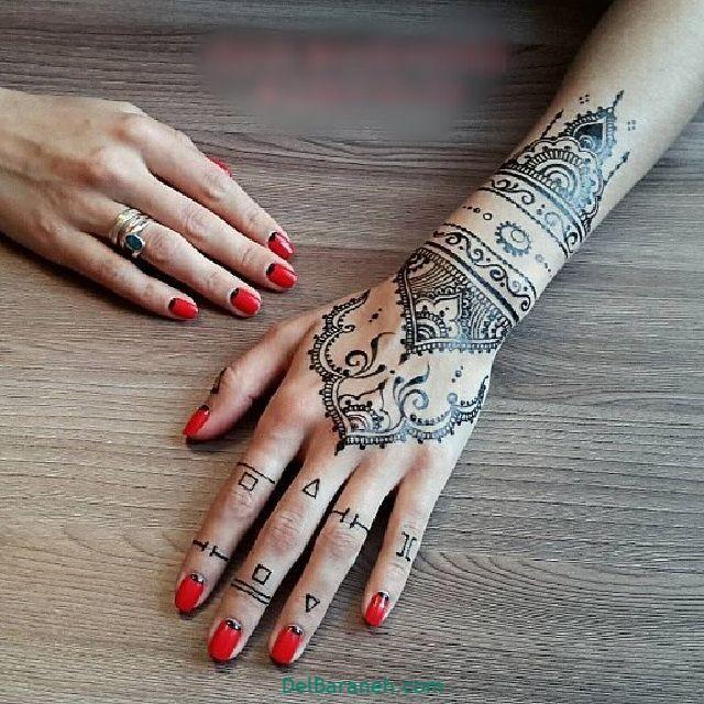 طرح حنا روی مچ دست (۱۲)
