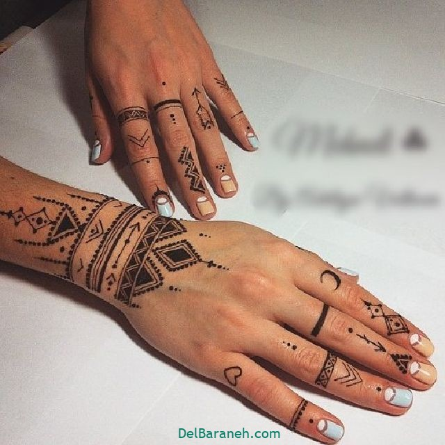 طرح حنا روی مچ دست (۱۳)