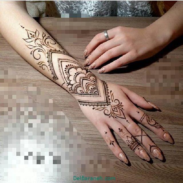 طرح حنا روی مچ دست (۱۶)