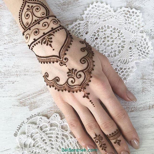 طرح حنا روی مچ دست (۱۸)