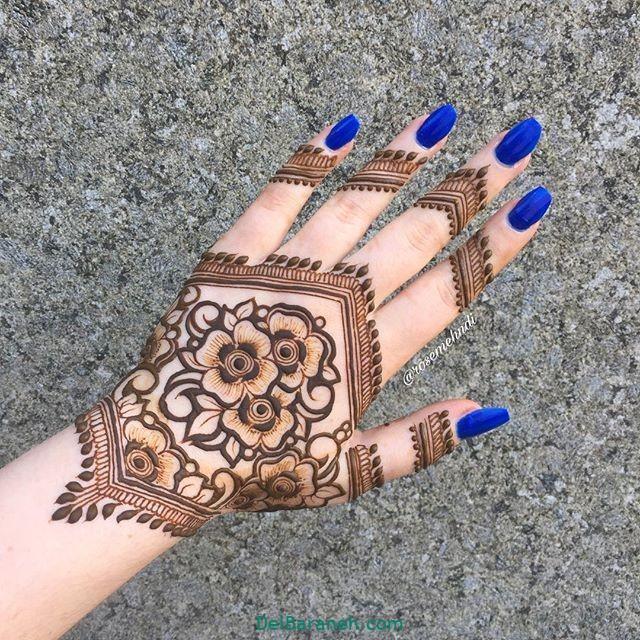 طرح حنا روی مچ دست (۳)