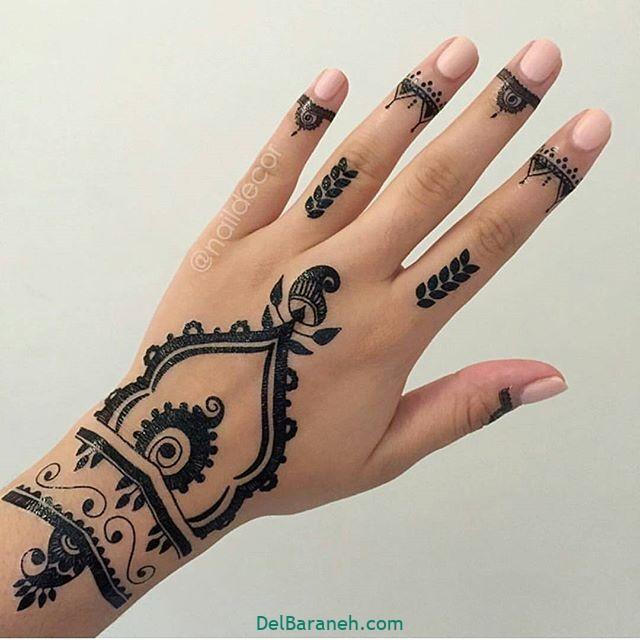 طرح حنا روی مچ دست (۴)