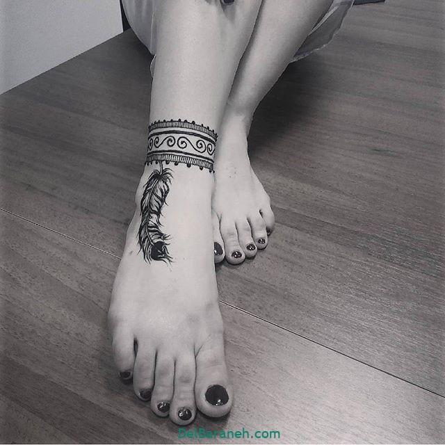 طرح حنا روی پا (۱۰)