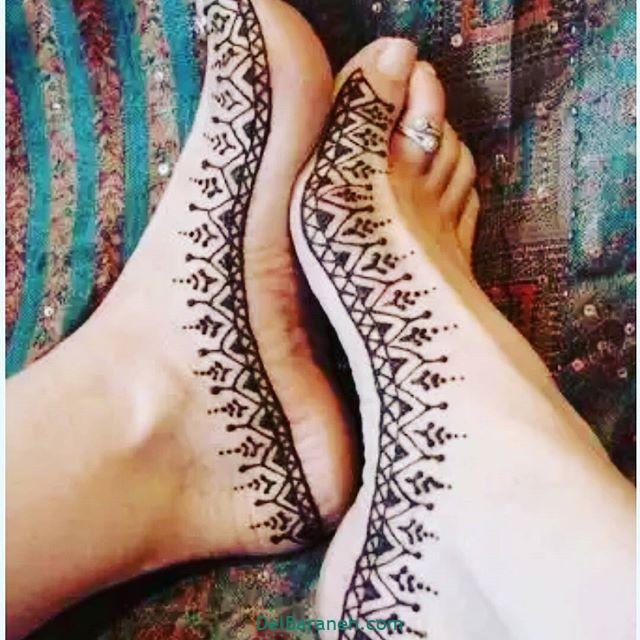 طرح حنا روی پا (۷)