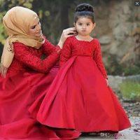 لباس ست مادر و دختر | ۳۰ مدل لباس ست مجلسی مادر دختری بانمک