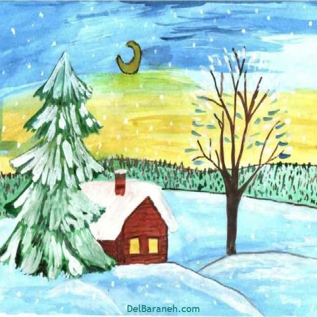 نقاشی برف و زمستان (۱۲)