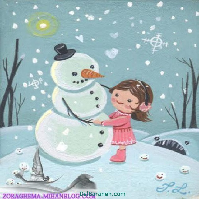 نقاشی برف و زمستان (۱۳)