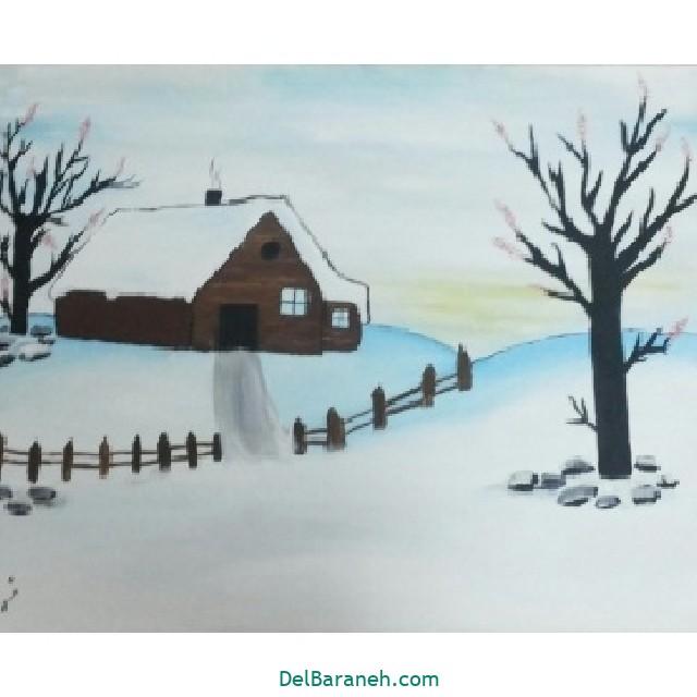 نقاشی برف و زمستان (۱۵)