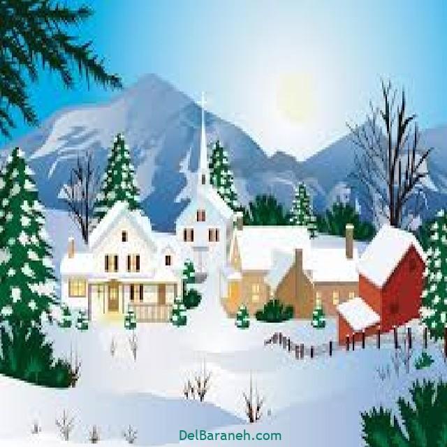 نقاشی برف و زمستان (۱۶)