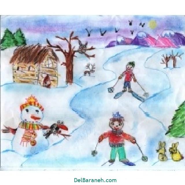 نقاشی برف و زمستان (۱۷)