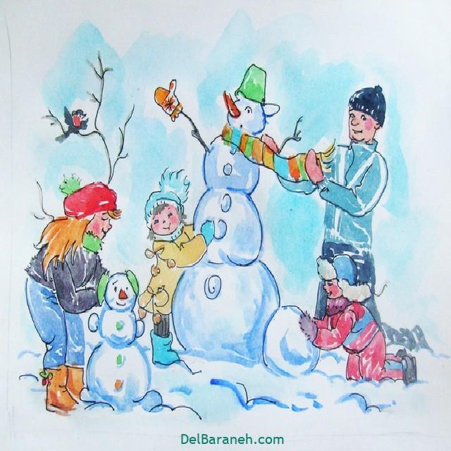 نقاشی برف و زمستان (۱۸)