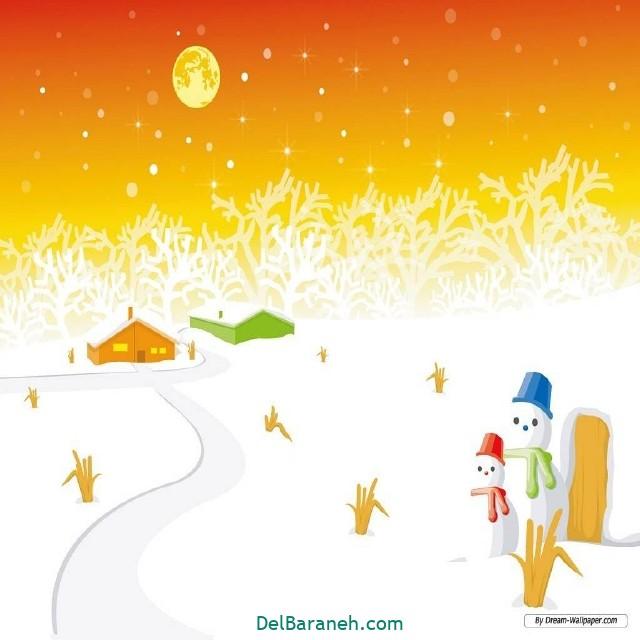 نقاشی برف و زمستان (۱۹)
