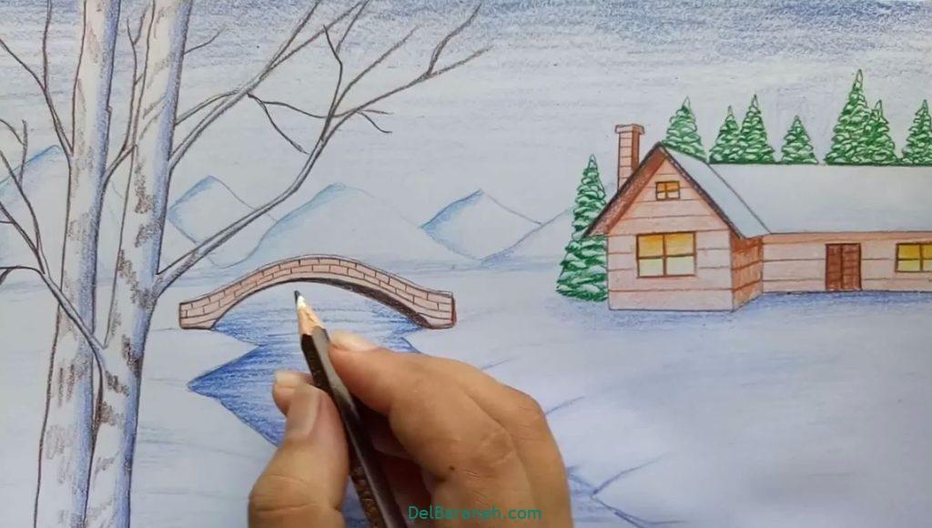 نقاشی برف و زمستان (۲)